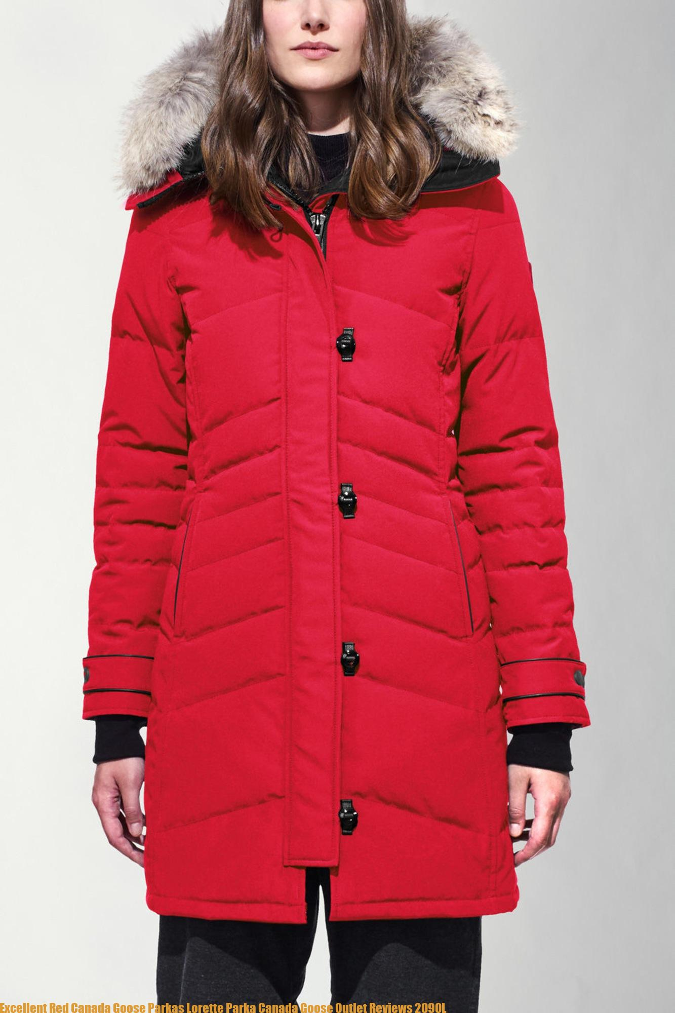 canada goose parka red