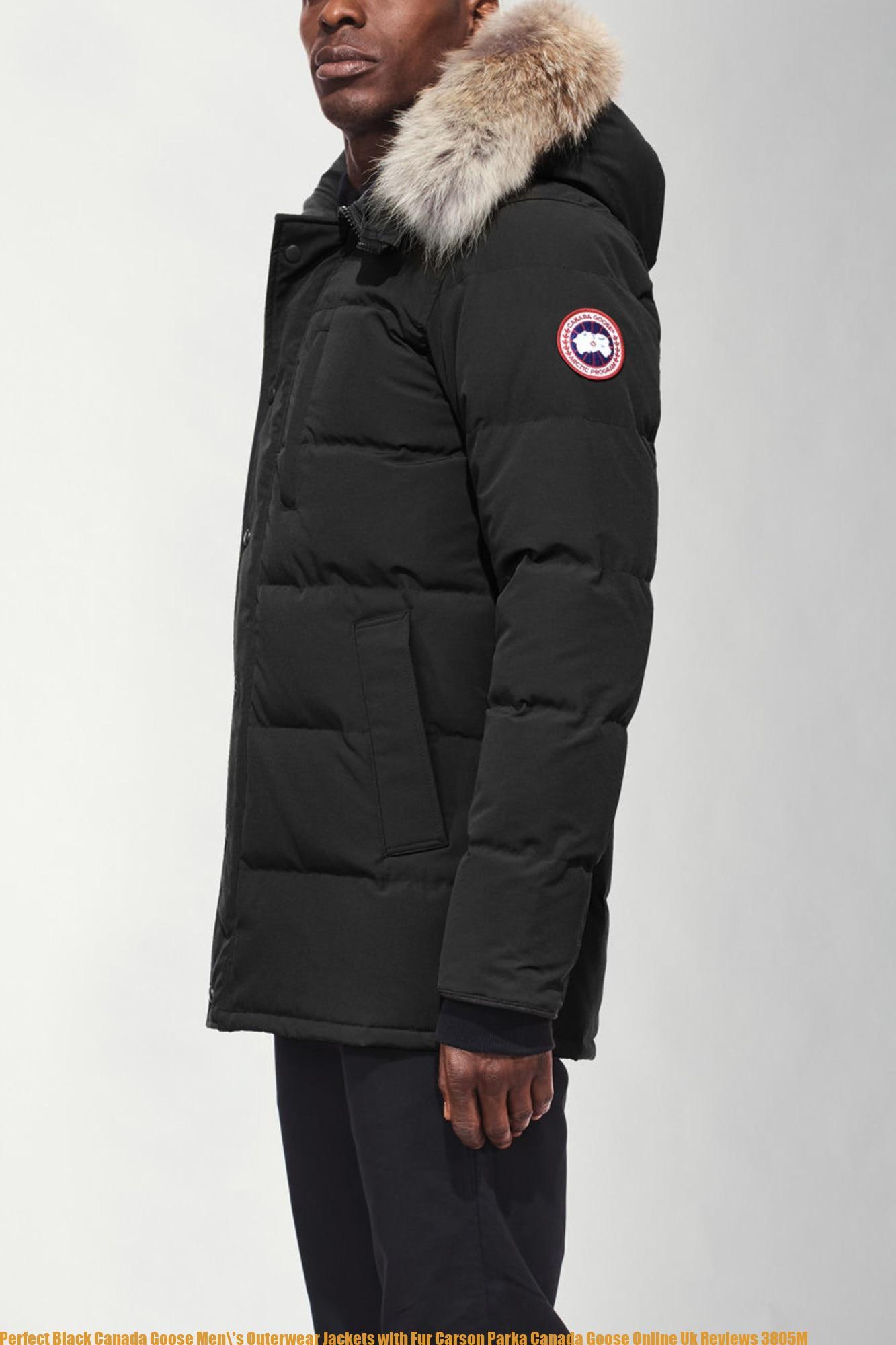 839c21d0933 Perfect Black Canada Goose Men\'s Outerwear Jackets with Fur Carson Parka  Canada Goose Online Uk Reviews 3805M
